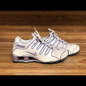 Pearl and purple Nike shox